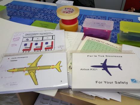 Safety card prodotto dalla Federazione in collaborazione con Alitalia