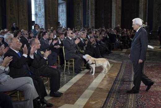 Giornata internazionale delle persone con disabilità, Il Presidente Sergio Mattarella incontra UICI e IAPB, Quirinale, 3 dicembre 2015