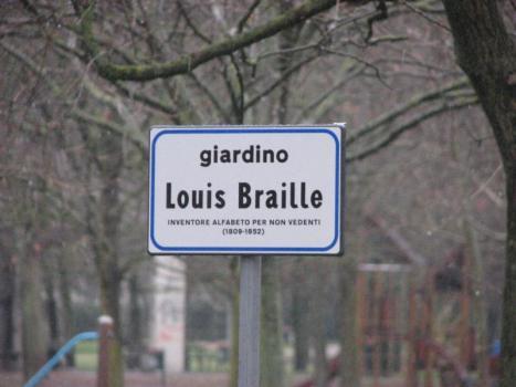 21 febbraio 2013, inaugurazione giardino Louis Braille