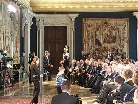 Giornata mondiale delle disabilità, Il Presidente Sergio Mattarella incontra UICI e IAPB, Quirinale, 3 dicembre 2015