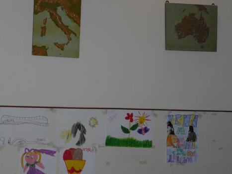 Ausilioteca, la parete dei disegni